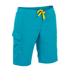 Palm Skyline Frauen Pant  - Aqua
