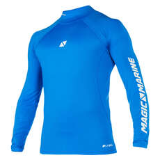 Magic Marine Cube Langarm Rash Vest 2019 - Blau