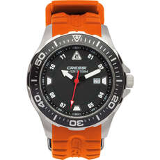 Cressi Manta Divers Uhr 100M - Schwarz / Orange