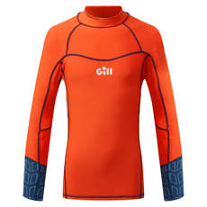 Gill Junior Pro Rash Weste Langarm - Orange