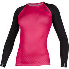 Mystic Womens Diva Langarm Quickdry Top  - Azelea
