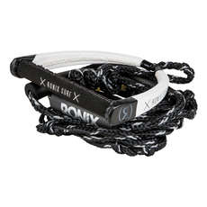 Ronix 25 'pu Synthetic Bungee Surf Rope Mit Griff - Schwarz