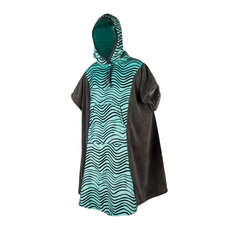 Mystic Womens Poncho / Fleece / Wickelrobe 2019 - Grau