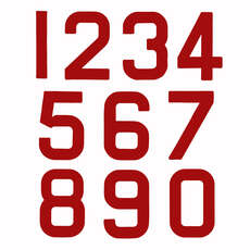 Ersatz Optimist Sail Numbers - Klasse Legal - Red