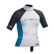 Gul Junior Short Sleeve Rashguard 2019 - Weiß / Blau