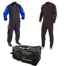 2020 Typhoon Hypercurve Trockenanzug / Undersuit & Bag - Blau