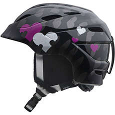 Giro Nine.10 Jr. Kinder Kinder Ski & Snowboard Helm - Black Heart Helix