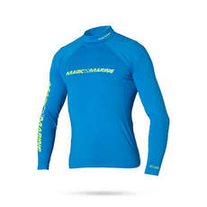 Magic Marine Cube Long Sleeve Rashvest 2019 - Blau