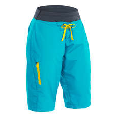 Palm Womens Horizon Shorts  - Aqua