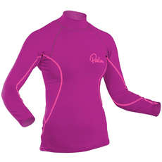 Palm Womens Langarm Rash Guard - Pflaume
