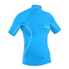 Palm Damen Kurzarm Rash Guard  - Aqua